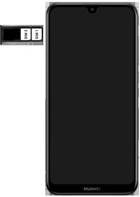 Huawei Y7 (2019) - Appareil - Insérer une carte SIM - Étape 6