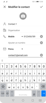 Huawei Y6P - Contact, Appels, SMS/MMS - Ajouter un contact - Étape 10