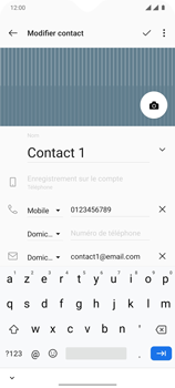 OnePlus 7T - Contact, Appels, SMS/MMS - Ajouter un contact - Étape 15