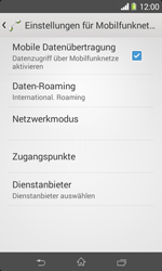Sony Xperia E1 - Ausland - Im Ausland surfen – Datenroaming - Schritt 11