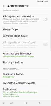Samsung Galaxy S8 Plus - Android Oreo - Messagerie vocale - Configuration manuelle - Étape 6