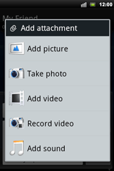 Sony Xperia Mini Pro - MMS - Sending pictures - Step 10