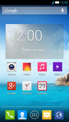 Alcatel One Touch Idol S - Getting started - Installing widgets and applications on your start screen - Step 1