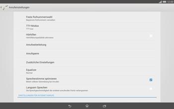 Sony Xperia Tablet Z2 LTE - Anrufe - Rufumleitungen setzen und löschen - Schritt 5