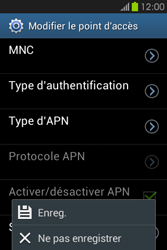 Samsung S6810P Galaxy Fame - MMS - Configuration manuelle - Étape 16