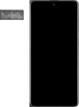 Samsung galaxy-a71-sm-a715f - Instellingen aanpassen - SIM-Kaart plaatsen - Stap 3