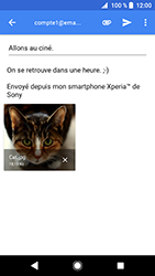 Sony Xperia XZ Premium - Android Oreo - E-mail - envoyer un e-mail - Étape 15