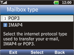 LG C360 Golf - Email - Manual configuration POP3 with SMTP verification - Step 5