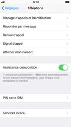 Apple iPhone 6s - iOS 11 - Sécuriser votre mobile - Personnaliser le code PIN de votre carte SIM - Étape 4