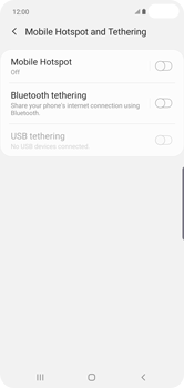 Samsung Galaxy S10 Plus - Internet - Set up mobile hotspot - Step 6