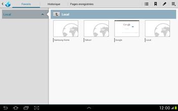 Samsung Galaxy Tab 2 10.1 - Internet et roaming de données - Navigation sur Internet - Étape 12
