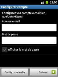 Samsung Galaxy Pocket - E-mail - Configuration manuelle - Étape 6