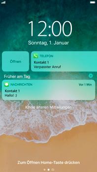 Apple iPhone 8 Plus - iOS 11 - Sperrbildschirm und Benachrichtigungen - 7 / 10