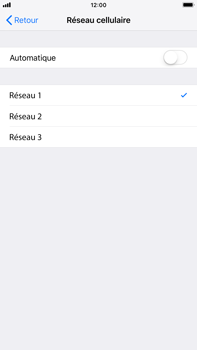 Apple iPhone 7 Plus - iOS 12 - Réseau - Sélection manuelle du réseau - Étape 7