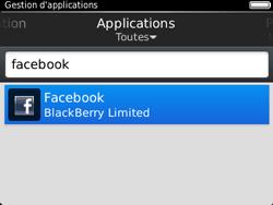 BlackBerry 9320 - Applications - Supprimer une application - Étape 7