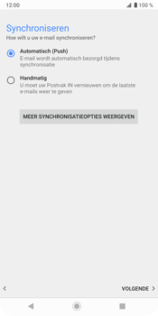 Sony Xperia XZ3 - E-mail - Handmatig instellen (outlook) - Stap 14