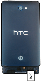 HTC Windows Phone 8S - SIM-Karte - Einlegen - Schritt 3
