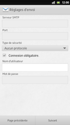 Sony Xperia S - E-mail - Configuration manuelle - Étape 13