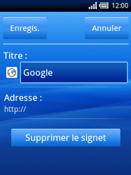 Sony Ericsson Xperia X10 Mini - Internet - navigation sur Internet - Étape 9