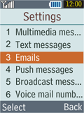 Samsung B2100 Xplorer - E-mail - Manual configuration - Step 5