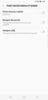 Samsung Galaxy S8+ - Internet et connexion - Utiliser le mode modem par USB - Étape 8