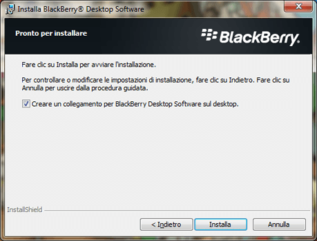 BlackBerry Q10 - Software - Installazione del software di sincronizzazione PC - Fase 9