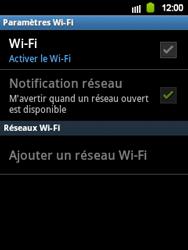 Samsung Galaxy Y - WiFi - Configuration du WiFi - Étape 6