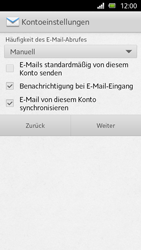 Sony Xperia U - E-Mail - Manuelle Konfiguration - Schritt 13
