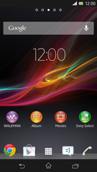 Sony Xperia Z - Getting started - Installing widgets and applications on your start screen - Step 1