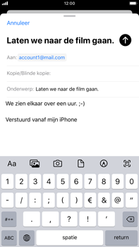 Apple iPhone 8 Plus - iOS 13 - E-mail - e-mail versturen - Stap 7