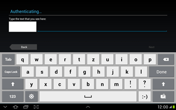 Samsung Galaxy Tab 2 10.1 - Applications - Setting up the application store - Step 13