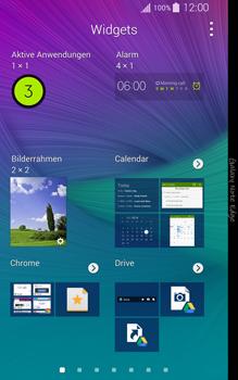 Samsung Galaxy Note Edge - Startanleitung - Installieren von Widgets und Apps auf der Startseite - Schritt 5