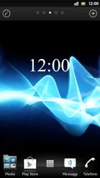 Sony Xperia S - Operazioni iniziali - Installazione di widget e applicazioni nella schermata iniziale - Fase 3