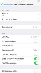 Apple iPhone 6 Plus - iOS 8 - E-Mail - Manuelle Konfiguration - Schritt 15