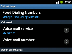 Samsung B5510 Galaxy TXT - Voicemail - Manual configuration - Step 8