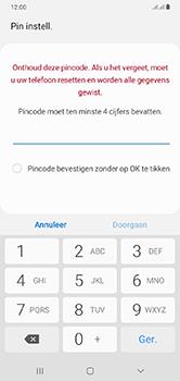 Samsung Galaxy A10 - Beveiliging - stel in of wijzig pincode voor je toestel - Stap 7
