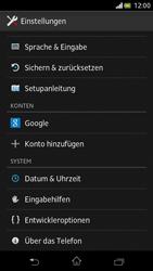 Sony Xperia V - Software - Installieren von Software-Updates - Schritt 5