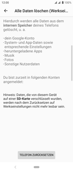 Sony Xperia 10 - Fehlerbehebung - Handy zurücksetzen - Schritt 10