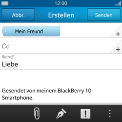 BlackBerry Q10 - E-Mail - E-Mail versenden - 10 / 17