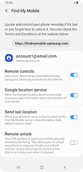 Samsung galaxy-s9-plus-android-pie - Device - Enable Find my Phone - Step 9