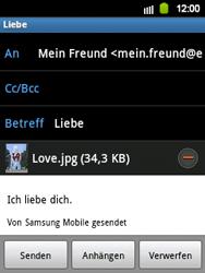 Samsung S5360 Galaxy Y - E-Mail - E-Mail versenden - Schritt 12