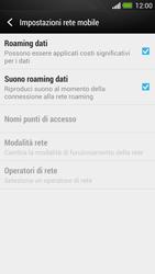HTC One - Internet e roaming dati - Disattivazione del roaming dati - Fase 5