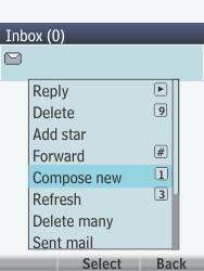 Nokia 301-1 - E-mail - Sending emails - Step 6