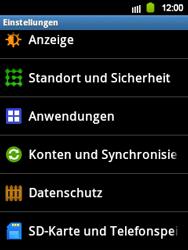 Samsung S5360 Galaxy Y - Fehlerbehebung - Handy zurücksetzen - Schritt 6
