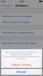 Apple iPhone 5c - Téléphone mobile - Réinitialisation de la configuration d