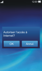 Sony TXT Pro - Internet - Navigation sur Internet - Étape 2