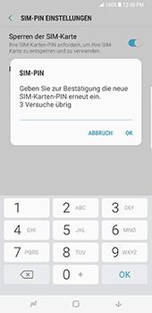 Samsung Galaxy S8 Plus - Datenschutz und Sicherheit - PIN-Code der SIM-Karte ändern - 10 / 12