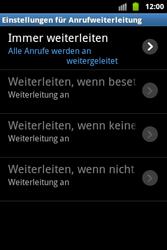 Samsung Galaxy Ace - Anrufe - Rufumleitungen setzen und löschen - 8 / 9