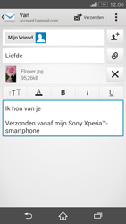 Sony D5803 Xperia Z3 Compact - E-mail - Bericht met attachment versturen - Stap 14