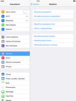 Apple iPad mini iOS 7 - Dispositivo - Ripristino delle impostazioni originali - Fase 6
